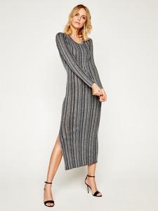 Sukienka Guess prosta maxi z długim rękawem