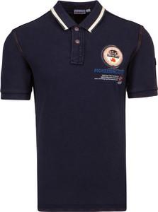 Granatowa koszulka polo Napapijri z tkaniny w sportowym stylu