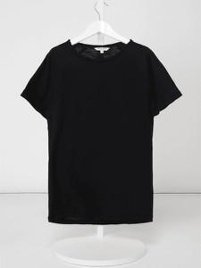 Czarna koszulka dziecięca Review For Teens z dżerseju z krótkim rękawem