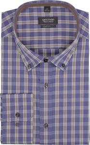 Fioletowa koszula recman z długim rękawem