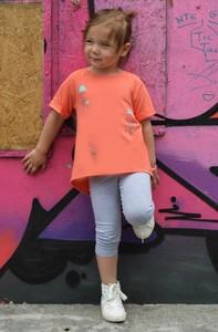 Pomarańczowa koszulka dziecięca All For Kids dla dziewczynek