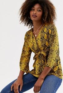 Bluzka Ax Paris z długim rękawem z dekoltem w kształcie litery v w stylu casual