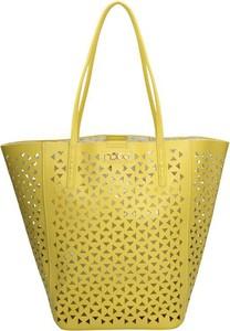 Żółta torebka NOBO duża w wakacyjnym stylu