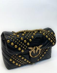 Czarna torebka Pinko pikowana