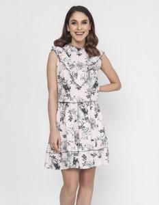 Sukienka Milena Płatek mini z okrągłym dekoltem w stylu casual
