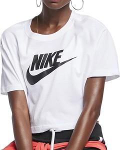 Bluzka Nike z okrągłym dekoltem w sportowym stylu z krótkim rękawem