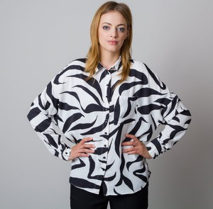 Bluzka Willsoor z długim rękawem z dekoltem w kształcie litery v