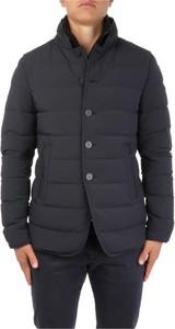 Czarny płaszcz męski Duno