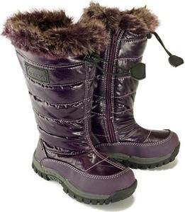 Fioletowe buty dziecięce zimowe Vemont