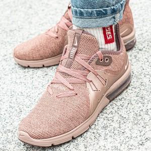 Różowe buty sportowe Nike z tkaniny