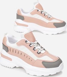 Różowe buty sportowe Multu sznurowane
