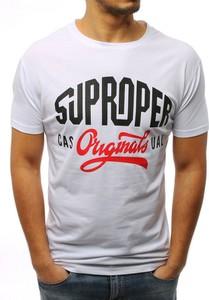 T-shirt Dstreet w młodzieżowym stylu z krótkim rękawem z bawełny