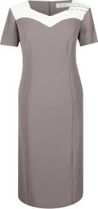 Sukienka Fokus z krótkim rękawem ołówkowa midi