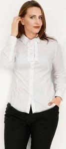 Koszula Duet Woman z żabotem z tkaniny