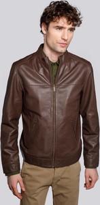 Brązowa kurtka Wittchen krótka w stylu casual