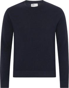 Niebieski sweter Colorful Standard z wełny w stylu casual