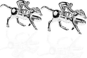 Em Men`s Accessories Spinki do mankietów tematyczne jeździec na koniu EM 29