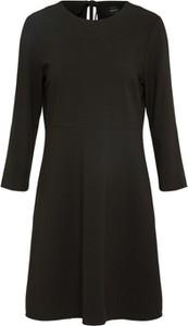 Czarna sukienka Only mini z okrągłym dekoltem