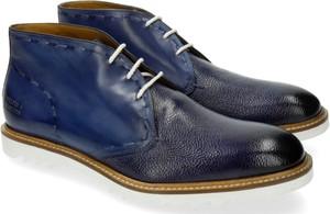 Niebieskie buty zimowe Melvin & Hamilton ze skóry