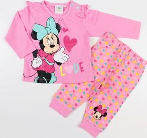 Różowy komplet dziecięcy Disney z bawełny