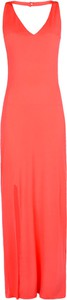 Różowa sukienka Guess z tkaniny maxi