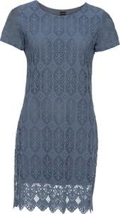 Sukienka bonprix BODYFLIRT z krótkim rękawem midi z okrągłym dekoltem