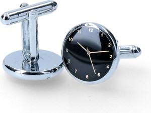 Dobrze Dodane spinka czarne tło zegarek ze wskazówkami