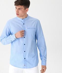 Niebieska koszula House z długim rękawem
