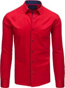 Czerwona koszula Dstreet z bawełny