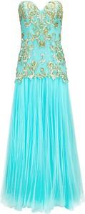 Niebieska sukienka La Poudre™ gorsetowa bez rękawów z tiulu