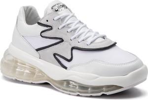 Sneakersy Bronx w młodzieżowym stylu na koturnie z zamszu