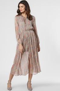 Sukienka Pepe Jeans rozkloszowana z długim rękawem maxi