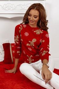 Sweter Shopaholics Dream w bożonarodzeniowy wzór w stylu casual