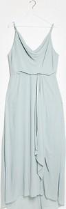 Zielona sukienka Tfnc Plus na ramiączkach maxi