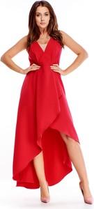 Sukienka Ptakmoda.com asymetryczna z dekoltem w kształcie litery v
