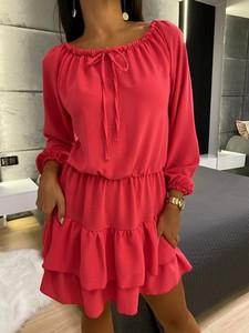 Czerwona sukienka ModnaKiecka.pl mini