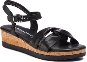Sandały Tamaris w stylu casual ze skóry na koturnie