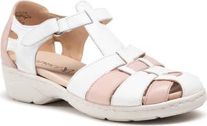 Sandały Caprice ze skóry w stylu casual z klamrami