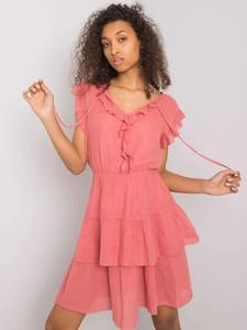 Różowa sukienka Promese z bawełny