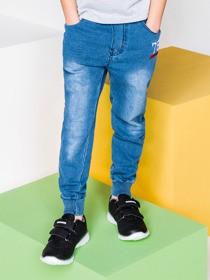 Niebieskie jeansy dziecięce ombre clothing