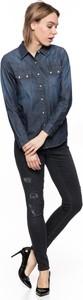 Koszula Lee z długim rękawem z jeansu z kołnierzykiem