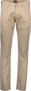 Brązowe chinosy Lee Jeans z bawełny