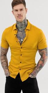 Żółta koszula Asos Design z klasycznym kołnierzykiem
