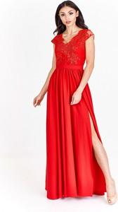 Sukienka Bosca Fashion maxi z krótkim rękawem