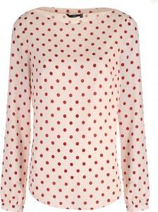 Różowa bluzka Nife z długim rękawem w stylu casual