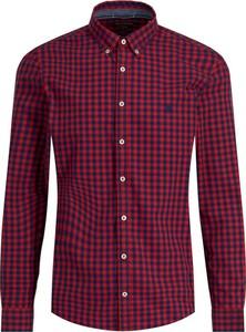 Czerwona koszula Marc O'Polo z kołnierzykiem button down