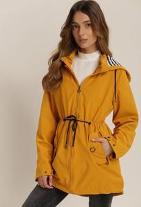 Żółta kurtka Renee w stylu casual długa
