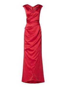 Czerwona sukienka Marie Noir maxi z dekoltem w kształcie litery v bez rękawów