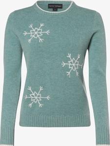 Niebieski sweter Franco Callegari z wełny z nadrukiem