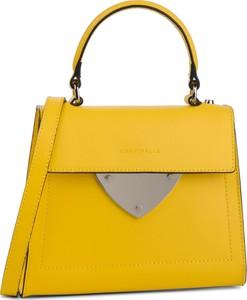Żółta torebka Coccinelle do ręki w stylu casual